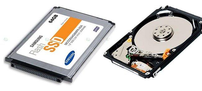 Một số khác biệt giữa Ổ cứng SSD và HDD
