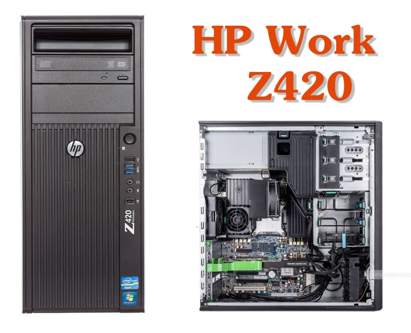 Máy tính PC HP Workstation Z420, Xeon E5-2650, Ram 32Gb, 128Gb SSD, 500Gb, Quadro K2000, dvdrw