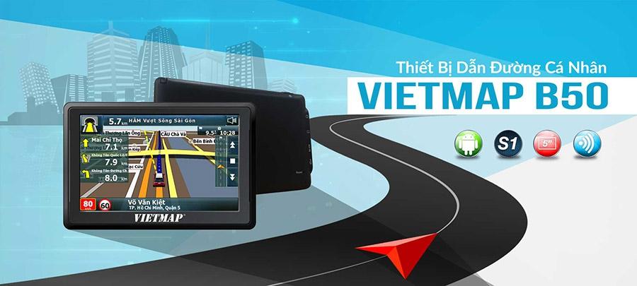 Thiết Bị Dẫn Đường GPS Thông Minh VIETMAP B50 Dành Cho Ô Tô