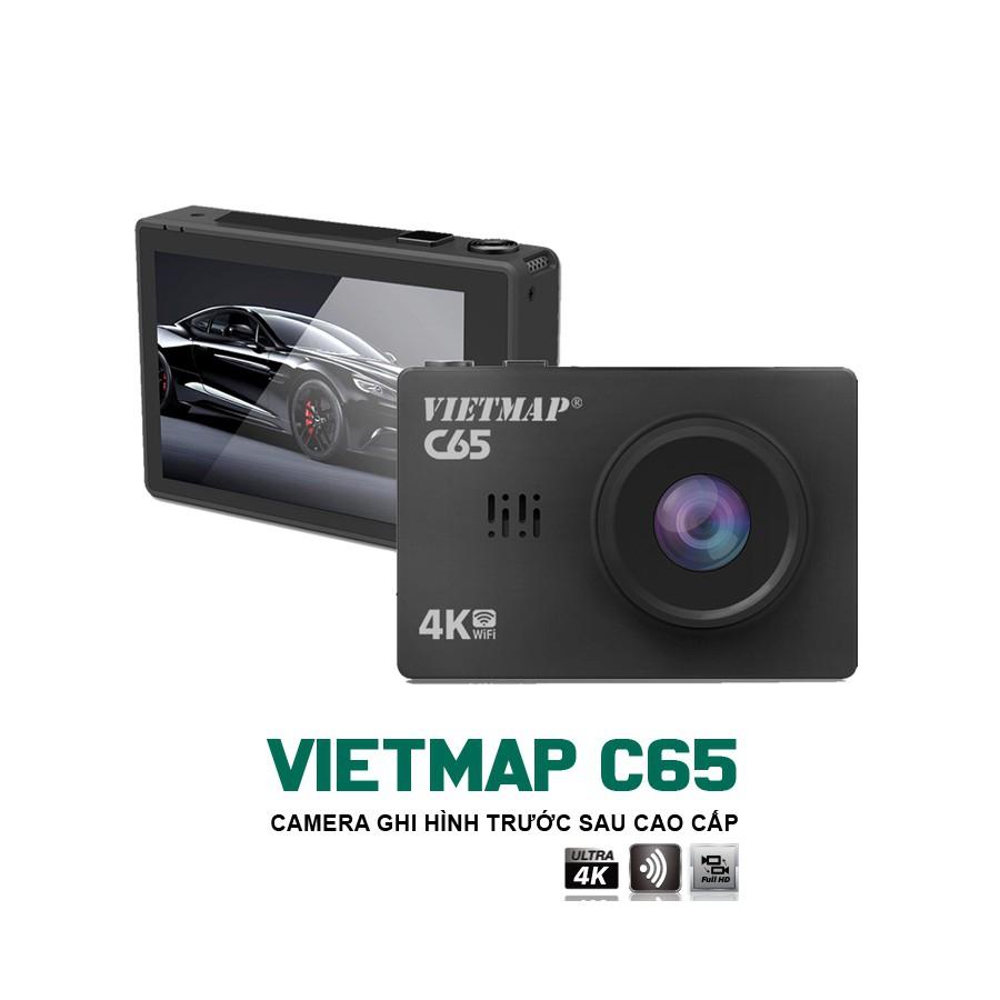 Camera Hành Trình Xe hơi VIETMAP C65 Cảm Ứng Ghi Hình Trước Sau + Cảnh báo bằng giọng nói