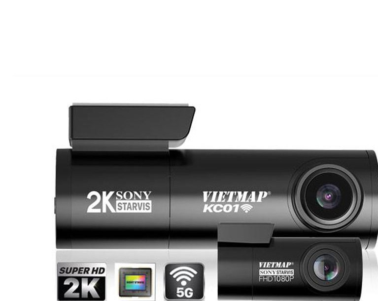 Camera Hành Trình Ô Tô VIETMAP KC01 - Ghi Hình Trước & Sau