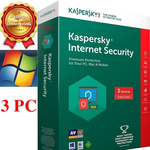 Phần mềm Kaspersky Internet Security 3 máy tính